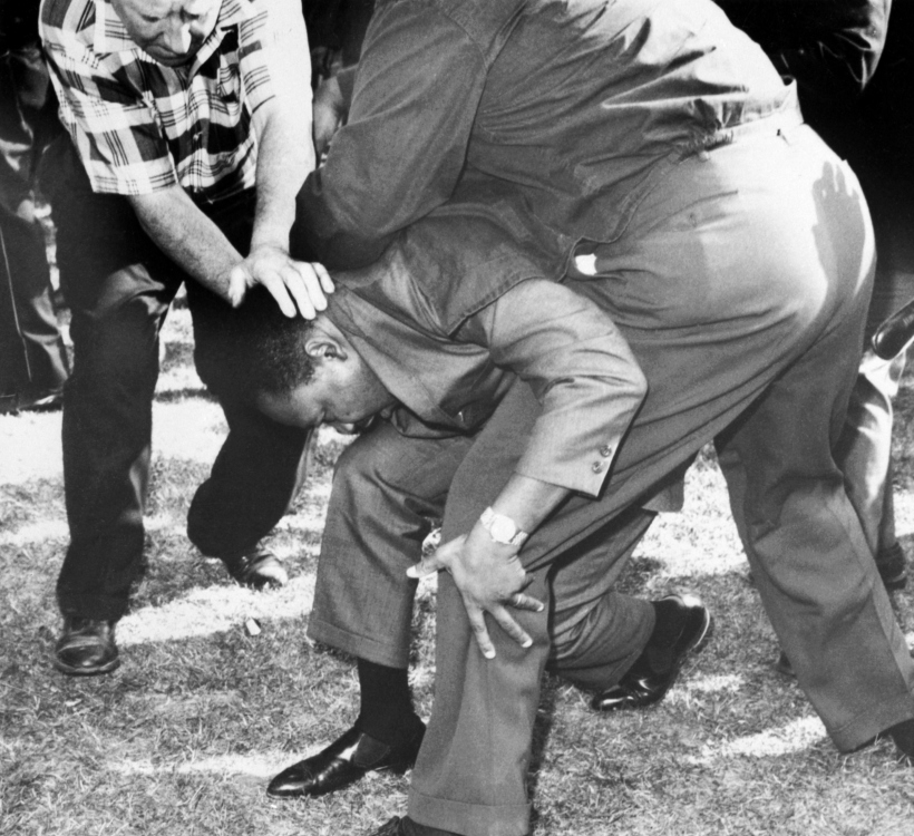Martin Luther King Assaulted During March